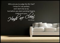 Bob Marley Quote Wall sticker Bedroom Room Decal Mural Transfer WSDQ11