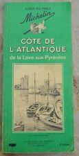 Guide Vert Michelin Côte de l'Atlantique, 2e édition, 1965, usure légère