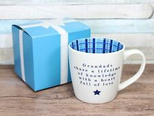 Grandads Share A Lifetime Of Knowledge - Inside Out Mug Ceramic Gift Boxed