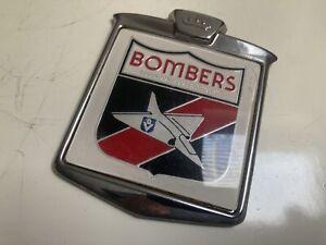 Original VFL 80s Essendon Bombers Metal Shield Badge
