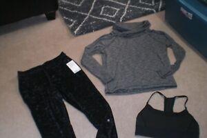 Lot of BNWT Lululemon Ready to Crush Jogger, Sweater and Bra sz 10