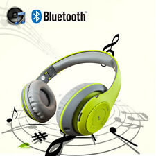 Retractable Wireless Bluetooth Stereo Headphones Super Bass Headsets with Mic