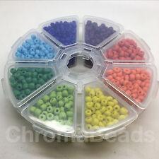 Bille de roue-taille 6/0 (env. 4mm) verre opaque perles de rocaille-starter pack/cadeau