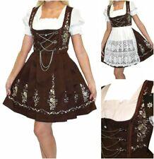 Sz 14 L German Dirndl Oktoberfest Dress Short Waitress Holiday Party EMBROIDERED