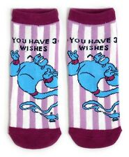 LADIES ALADDIN GENIE JAFAR 3 WISHES SHOE LINERS SOCKS UK 4-8 EUR 37-42 USA 6-10