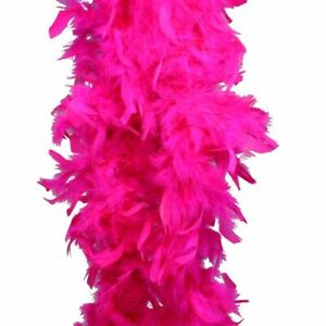 "Hot Pink Turkey Feather Boa 55GM 6 ft 72"" Costume Accessory Bachlorette Party"