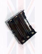 Nuevo hágalo usted mismo plástico de la batería de almacenamiento de 6 patillas Funda Caja Soporte Para 3 X 18650 Baterías del Reino Unido