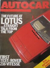 Autocar magazine 15 May 1985 featuring Rover road test, Peugeot