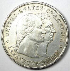 1900 Lafayette Commemorative Silver Dollar $1 - AU Details - Rare Coin!