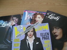 ARCH001 LOT ELLEN PAGE Interview Magazine March 2008 June 2007 Lush Hilary Duff