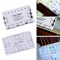 Guitar String Action Pitch Ruler Measuring Bass Classical Electric Acoustic 2019
