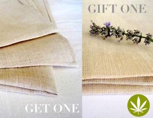 100% Hemp Towel Set Handwoven, 2 Sets of 3, Hypoallergenic Towel Set Gift Bath