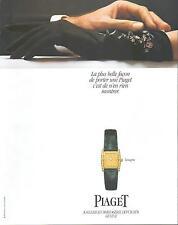 ▬► PUBLICITE ADVERTISING AD Montre Watch PIAGET Tanagra