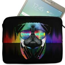 "Personalised Tablet Case NEON PUG GAMER Neoprene Sleeve Cover 7"" 8"" 9"" 10"""