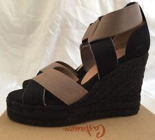 cec81151297 Castañer Berenice 8 Ed 600 Women s Wedge Heel Espadrilles Black UK 3.5