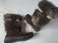 SPICY schöne & moderne Damen Winter Schuhe / Stiefel / Boots, braun, Größe 38