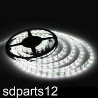 12V Ruban LED 5m Bande Lumineuse Étanche 60LED/m Lumière Blanche 5050 SMD