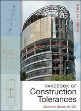NEW Handbook of Construction Tolerances by David Kent Ballast FAIA  CSI