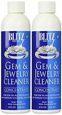 2 Pack BLITZ Concentrated Jewelry Cleaning Solution For Ultrasonic Cleaner 8 Oz