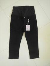 BN Ladies Jeans West Maternity Black Slim Stretch Capri   Size 12