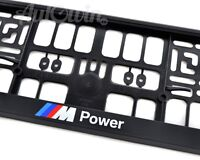 BMW Euro Standart Vehicle Car License Plates Frames with //////M Power Logo 2 pcs