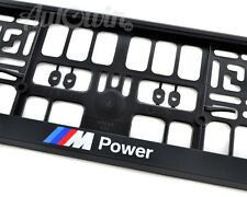 BMW Euro Standart Vehicle License Plates Frames with ///M Power Logo NEW 1 Pcs