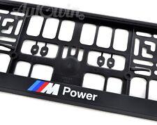BMW E70 E82 E65 Euro Standart License Plates Frames with ///M Power Logo 1pcs.
