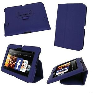"""rooCASE for Amazon Kindle Fire HD 7"""" (2012) - Ultra-Slim Leather Purple Lot C7"""