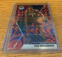 2019-20 Zion Williamson Mosaic Red Blue Reactive Prizm  New Orleans