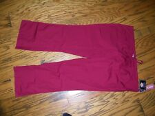Dickies Scrubs Drawstring Flare Bottoms PAnts Wine Maroon 51206 a Size 2XL