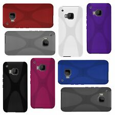 HTC One m9 (2015) - x-style X-line TPU funda protectora protección, funda, estuche, bolsa