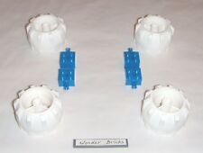 Lego Wheels Hard Plastic White Large 7259 Snow Space Vehicle