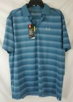 Under Armour Men's Heat Gear Large Loose Navy Blue Golf Polo Shirt New with Tags