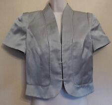 Phase Eight UK10 EU38 US6 silver grey bolero lined jacket with short sleeves