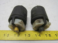 Hubbell HBL23005GB Turn & Pull 10A250/480v 20A 125v Male Connector Plug Lot of 2