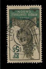 """GABON - 1917 - CAD DOUBLE CERCLE """"LIBREVILLE / GABON"""" SUR N°52"""