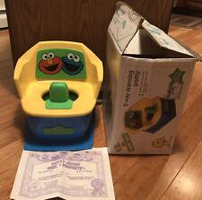 Sesame Street Elmo Cookie Monster Potty Chair Baby/Toddler Toilet Training Vgc
