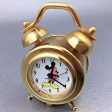 Disney Miniature Brass Mickey Mouse Desk Clock Alarm Clock Shape