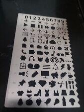 Symbols & Number Stencils Stencil For Bullet Journal Supply 12 mm Metal math