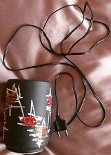 Lampe de chevet / Veilleuse en céramique émaillée Vintage