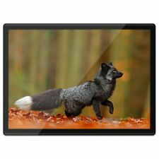 Quickmat Plastic Placemat A3 - Wild Black Silver Fox Animal  #21243