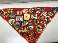 Boy Scout Troop Neckerchief Full of Patches #3 - Military Bases