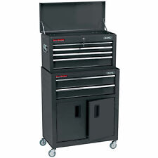 "Draper 24"" Combined Roller Cabinet and Tool Chest (6 Drawer) in Black"