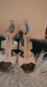 Michael Kors Nude Snake Print Shoes Ladies VGC size 5