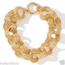 20.6gr Bold Diamond Cut Rolo Circle Bracelet REAL 14K Yellow Gold FREE SHIPPING