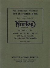 Norton 88 99 650SS Atlas and a ES2 Instruction Book and Maintenance Manual