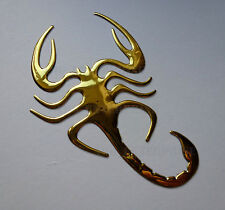 GOLD Chrome Effect Scorpion Badge Decal Sticker for Alfa Romeo Spider Brera GTV