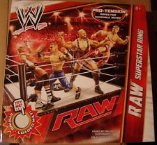 WWE RAW SUPERSTAR RING pro tension ropes spring loaded