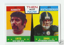 2005 Topps Heritage Then And Now Joe Namath/Ben Roethlisberger