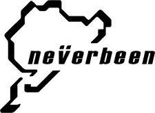 Never been sticker car decal NEVERBEEN